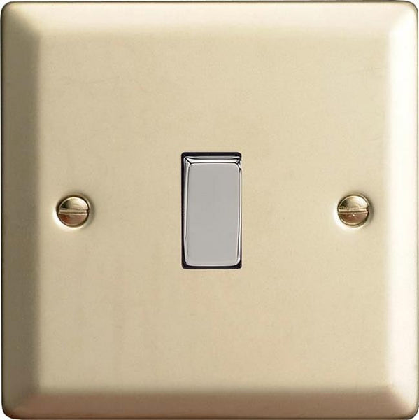 Varilight Classic Rocker Switch - Satin Chrome (Metal Inserts) - LED Bulb Centre Ltd