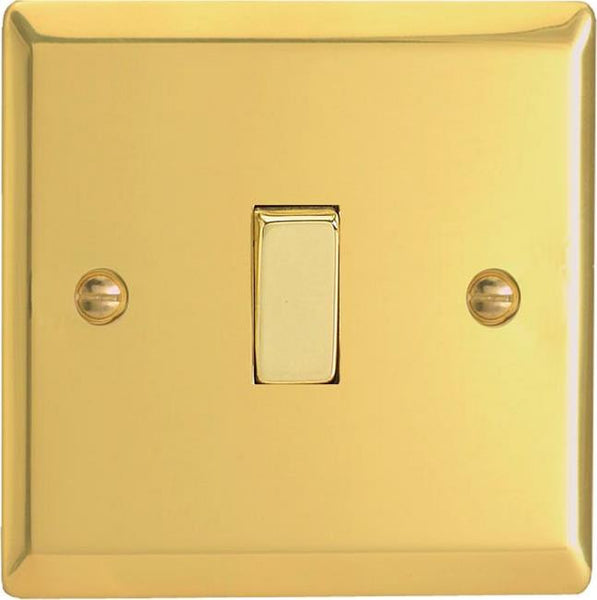 Varilight Classic Rocker Switch - Victorian Brass (Metal Inserts) - LED Bulb Centre Ltd