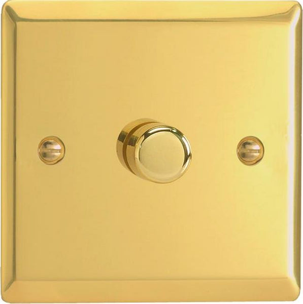 Varilight Classic V-COM Commercial Series Dimmers - Victorian Brass - LED Bulb Centre Ltd