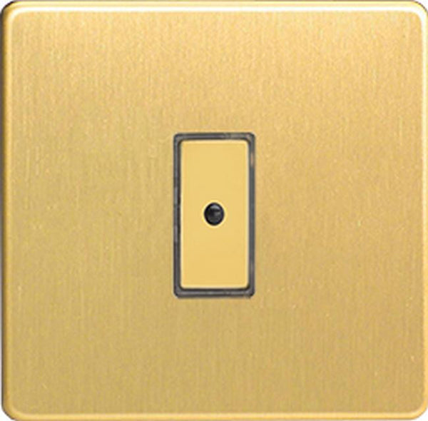 Varilight Screwless Eclique2 Remote Control/Touch Flat Plate Dimmers - Brushed Brass