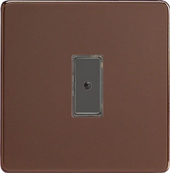 Varilight Screwless Eclique2 Remote Control/Touch Flat Plate Dimmers - Mocha