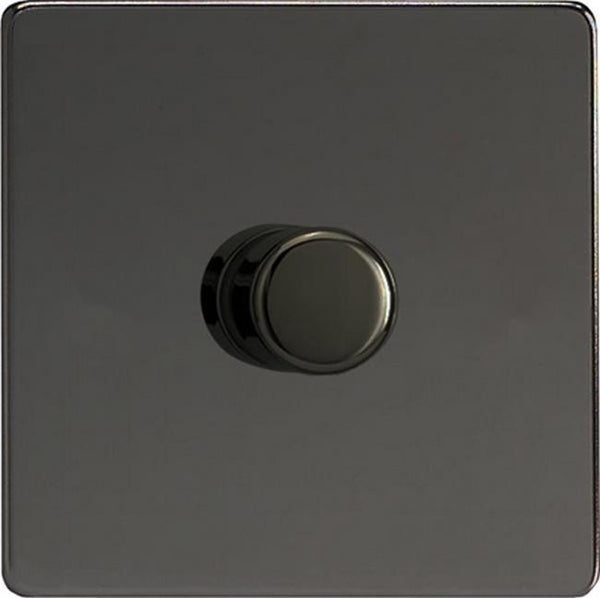 Varilight Screwless V-COM Commercial Series Flat Plate Dimmers - Black