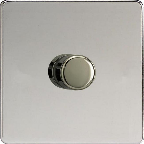 Varilight Screwless V-COM Commercial Series Flat Plate Dimmers - Chrome