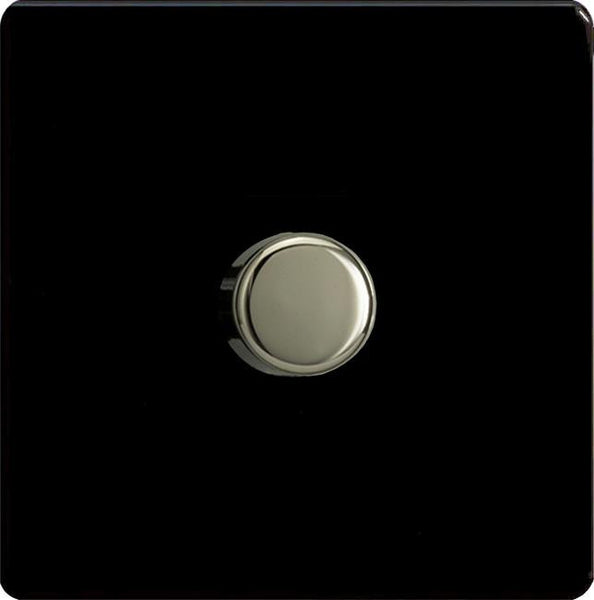 Varilight Screwless V-COM Commercial Series Flat Plate Dimmers - Premium Black