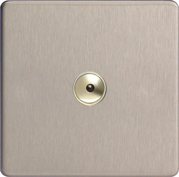 Varilight Screwless V-Pro IR Remote Control/Touch Flat Plate Dimmers - Brushed Steel