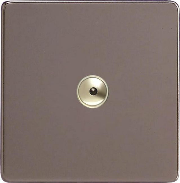 Varilight Screwless V-Pro IR Remote Control/Touch Flat Plate Dimmers - Pewter