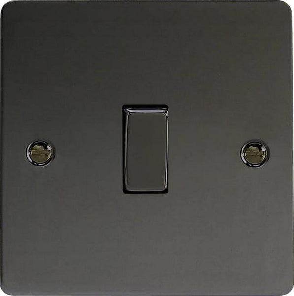 Varilight Ultraflat Rocker Switch - Iridium Black (Metal Inserts) - LED Bulb Centre Ltd
