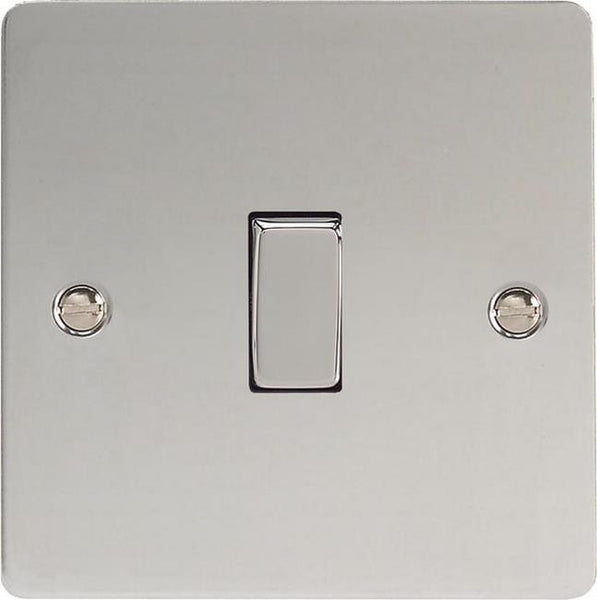 Varilight Ultraflat Rocker Switch - Polished Chrome (Metal Inserts) - LED Bulb Centre Ltd