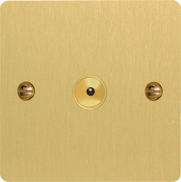 Varilight Ultraflat V-Pro IR Remote Control/Touch Dimmers - Brushed Brass - LED Bulb Centre Ltd