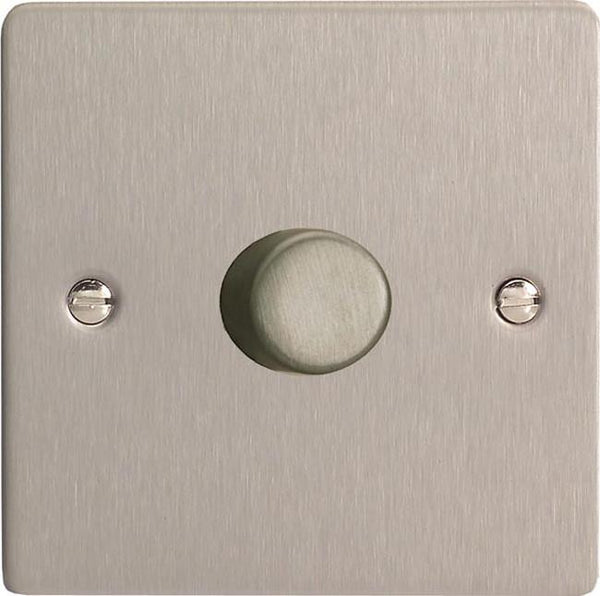 Varilight Ultraflat V-Pro Professional Series Dimmers - Brushed Steel - LED Bulb Centre Ltd