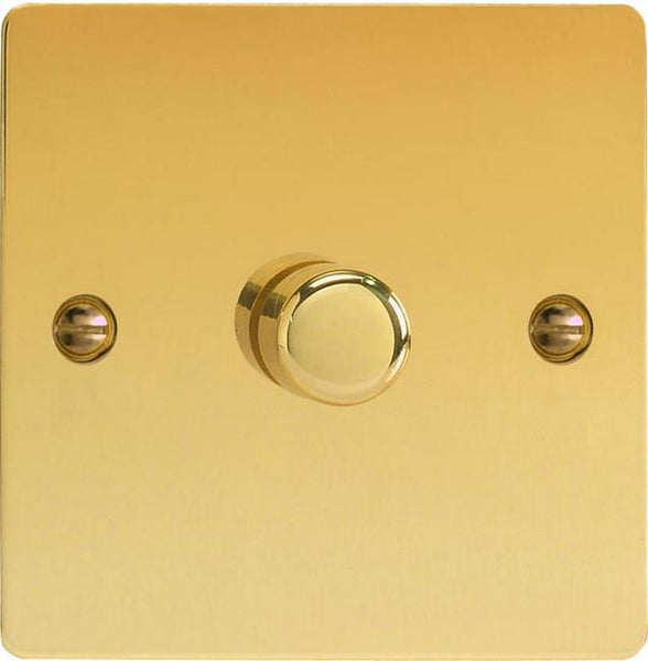 Varilight Ultraflat V-Pro Professional Series Dimmers - Polished Brass - LED Bulb Centre Ltd