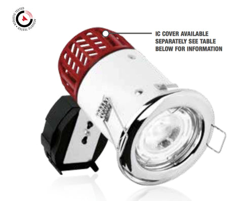 Aurora GU10 IP65 Fixed Fire Rated Downlight - LED Bulb Centre Ltd