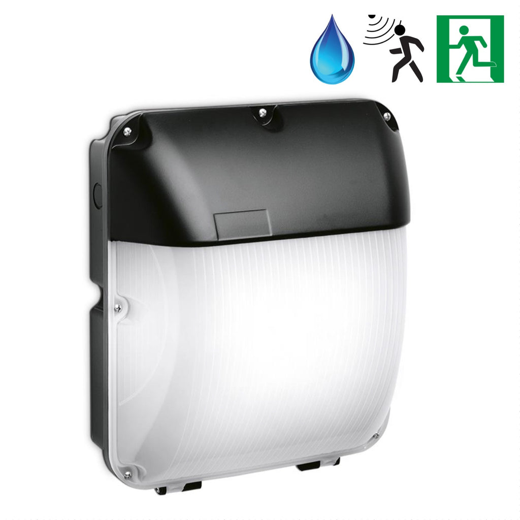 Led Wall Pack With Emergency: 30W IP65 LED Industrial Wall Pack Bulkhead Lights