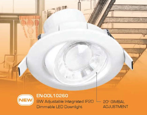 Enlite Spryte 8W Dimmable Adjustable Downlight - LED Bulb Centre Ltd