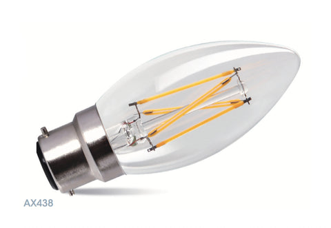 Amitex 3.5 Watt B22 Dimmable Filament Candle Lamp - LED Bulb Centre Ltd