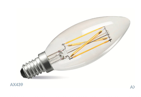 Amitex 3.5 Watt E14 Dimmable Filament Candle Lamp - LED Bulb Centre Ltd