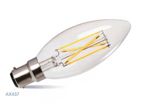 Amitex 3.5W B15 Dimmable Filament Candle Lamp - LED Bulb Centre Ltd