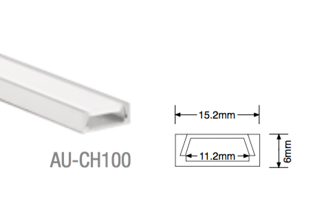 AU-CH100 Aluminium Surface Profile - LED Bulb Centre Ltd