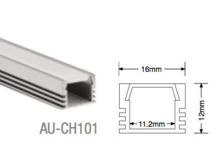 AU-CH101 Aluminium Surface Profile - LED Bulb Centre Ltd