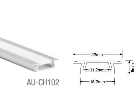 AU-CH102 Aluminium Recessed Profile - LED Bulb Centre Ltd