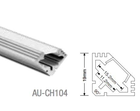 AU-CH104 Aluminium Corner Profile - LED Bulb Centre Ltd