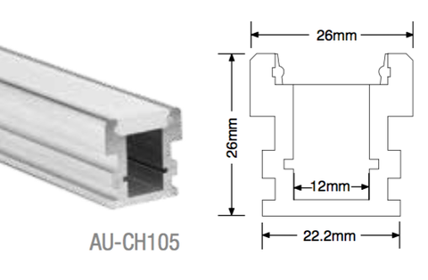 AU-CH105 Aluminium Deep Profile - LED Bulb Centre Ltd
