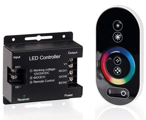 Aurora 12V - 24V RGB LED Strip Controller - LED Bulb Centre Ltd