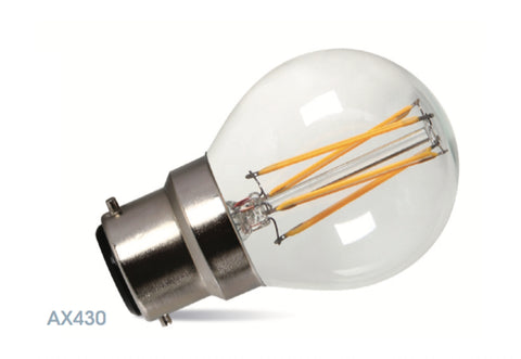 Amitex 3.5 Watt B22 Dimmable Filament Golf Ball Lamp - LED Bulb Centre Ltd