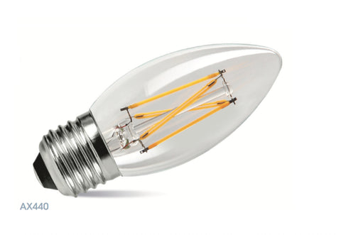 Amitex 3.5 Watt E27 Dimmable Filament Candle Lamp - LED Bulb Centre Ltd