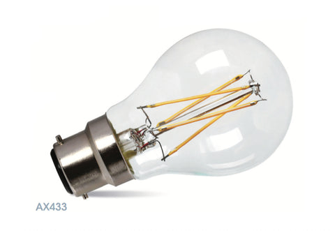Amitex 7 Watt B22 Dimmable Filament GLS Lamp - LED Bulb Centre Ltd
