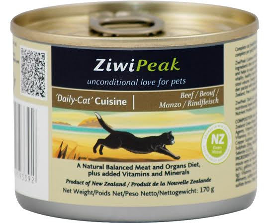 ZiwiPeak 'Daily Cat' Moist Beef Cuisine