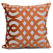 Load image into Gallery viewer, Carved Orange Cushion Covers