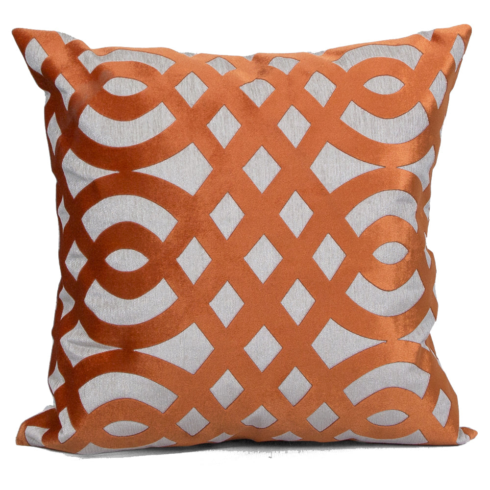 Carved Orange Cushion Covers