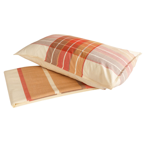 Enamor Orange Cotton Bedsheets