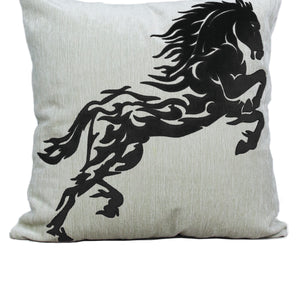 Stallion Black Cushion Covers