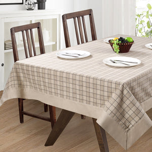 English Check Beige Table Cover Set