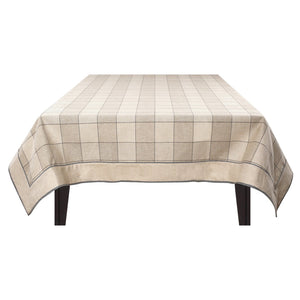 Crimson Check Beige Table Cover Set