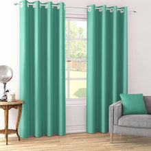 Load image into Gallery viewer, Dimout Teal Blue Curtain