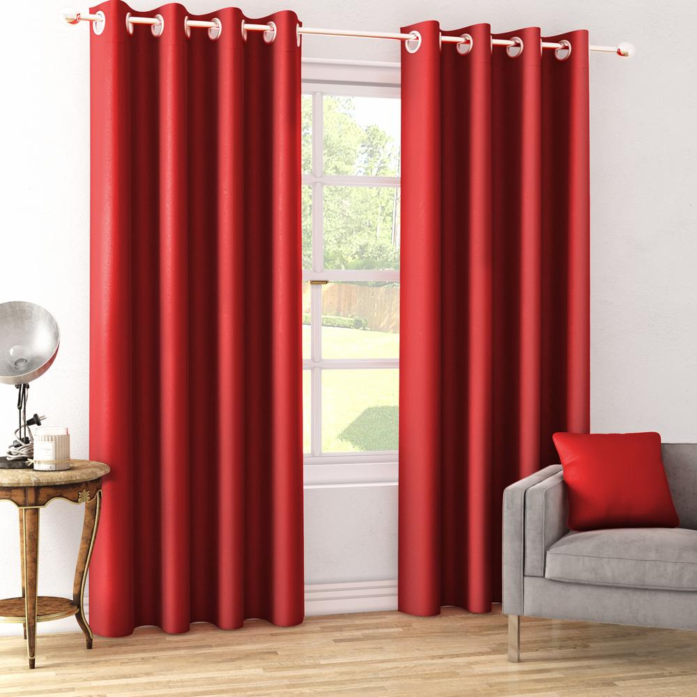 Dimout Red Curtain