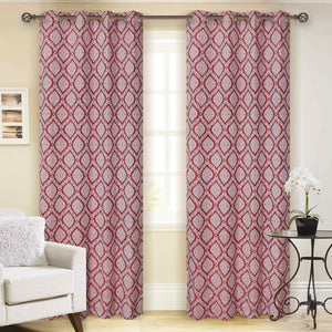 Mirror Meroon Curtain