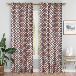 Abstract Brown Curtain