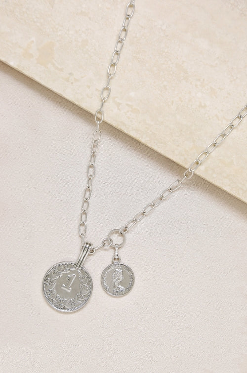 Simplicity Coin & Chain Necklace - Necklacescharm