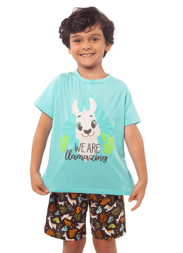 KIDS SHORT DOLL VISCOSA LLAMA