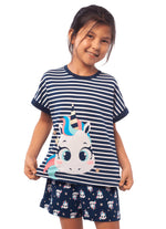 KIDS SHORT DOLL VISCOSA UNICORNIO