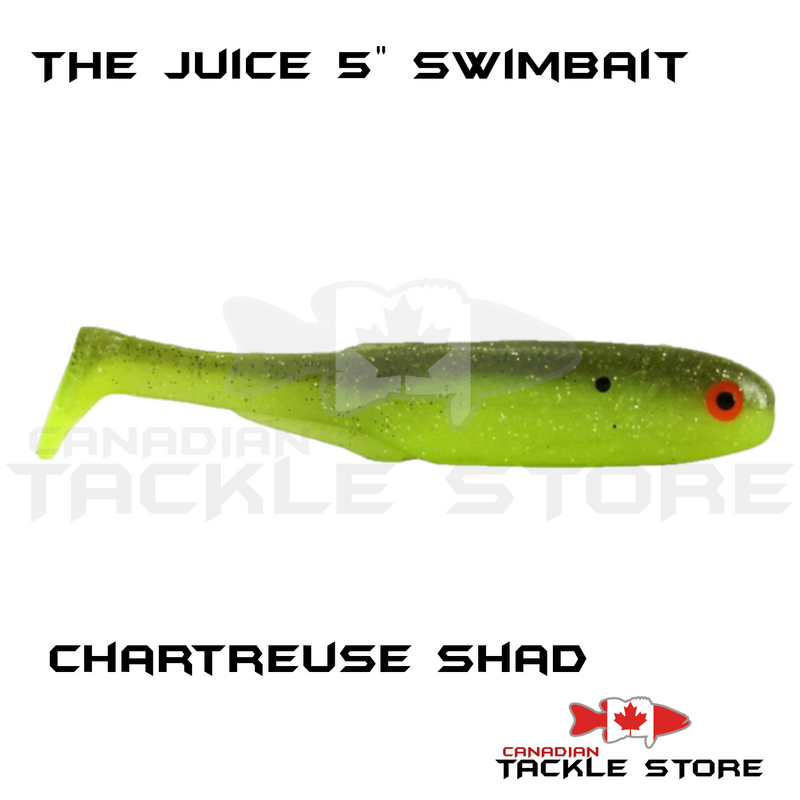 "The Juice 5"" Swimbaits"