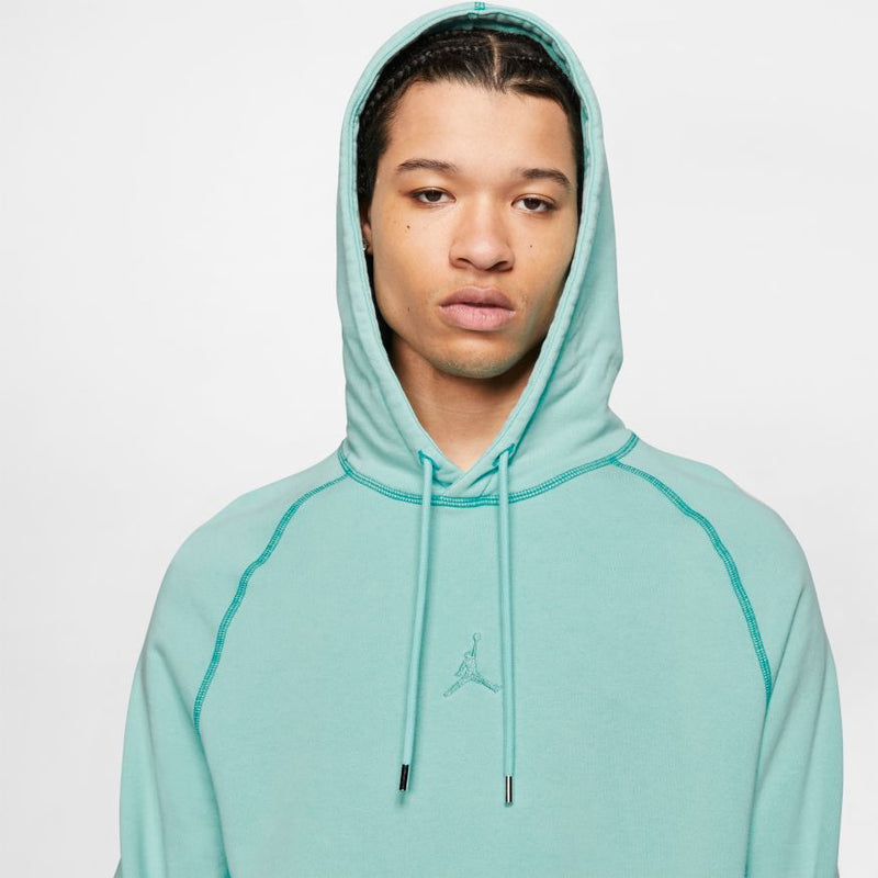 "WINGS WASHED FLEECE PULLOVER ""LIGHT AQUA"""