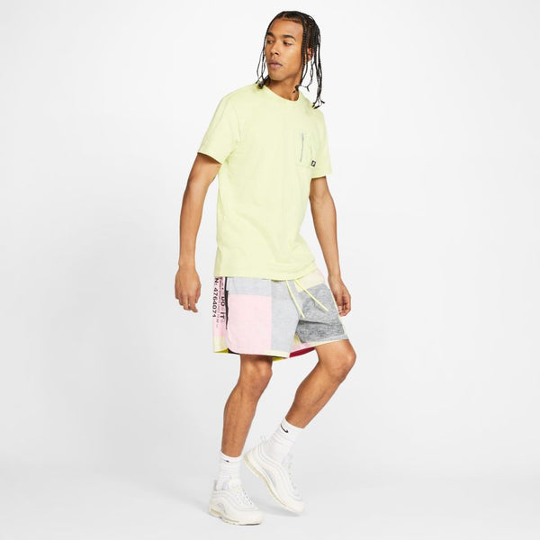 "NSW WOVEN SHORTS ""TRACK RED/LIMELIGHT"""