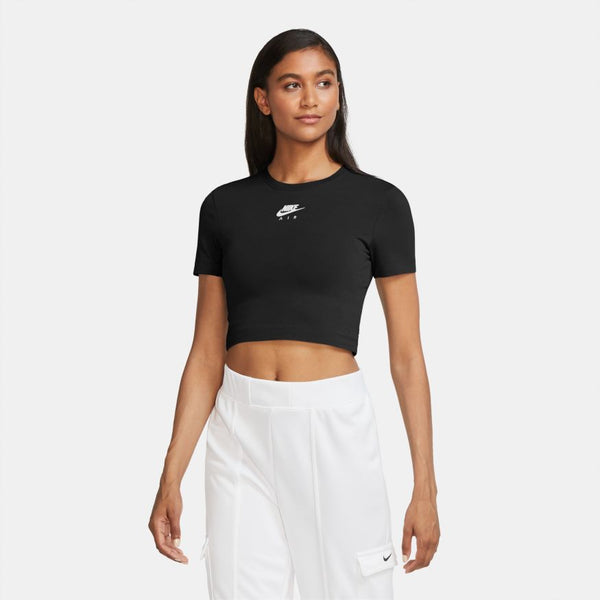 "W NIKE AIR CROP TOP ""BLK"""