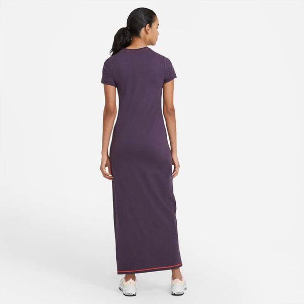 "NSW ICON CLASH MAXI DRESS ""DARK RAISIN"""