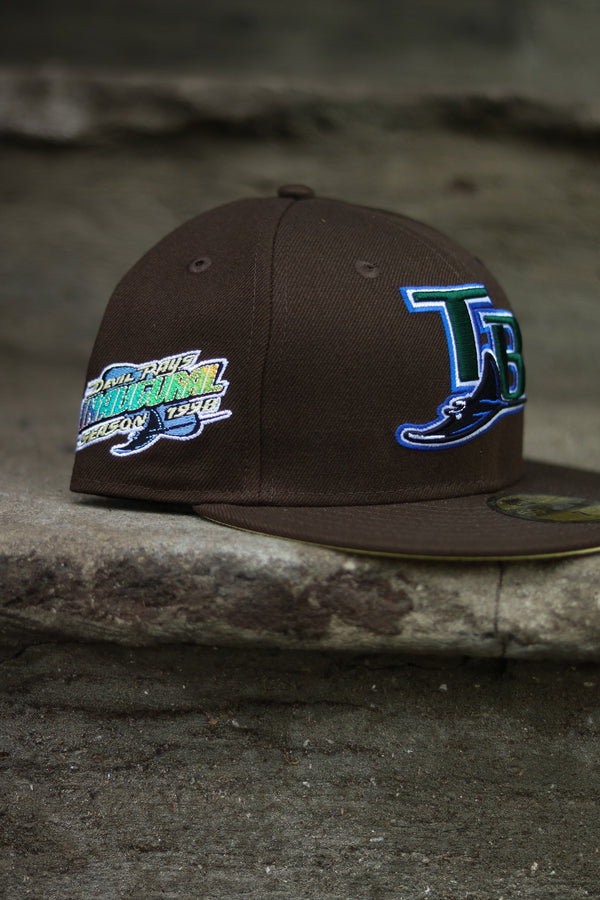 1998 TAMPA BAY RAYS BROWN FITTED W/ BUTTER UNDER VISOR